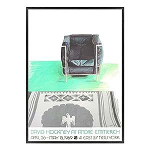 A.P.J. ポスター額装(現代アート) デイヴィッド・ホックニー ひじかけ椅子と敷物 A1918 グラーノフレームブラック