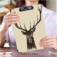 フォルダーボードフォルダーライティングボード 学生用かわいい画集鹿ビンテージイラスト、手描き、ベクトル (2パック)