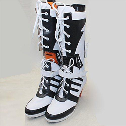 ★CGcosplay★ スーサイド・スクワッド ハーレイクイン コスプレ靴/ブーツ cosx-109 (26.5cm)