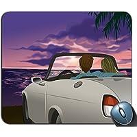 印刷防滑ゴムは、マウスパッド、マウスパッド、マウスパッド、夕方の砂浜車モードマウスパッド