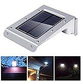 ShiRui 20 LEDs Solar Power Light, Waterproof Sound and Motion Sensor Light with 2 Intelligent Modes, 1000mAH Li-ion Battery for Patio, Garden, Pathway Security Lighting (1 Pack) [並行輸入品]