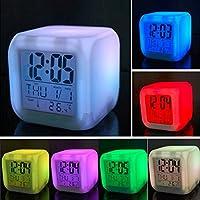 mazimark --デジタルアラームLEDクロックスヌーズライトコントロールバックライト時間カレンダー温度計