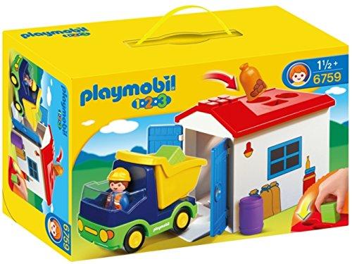 プレイモービル 1・2・3シリーズ 1.2.3トラックのおうち 6759