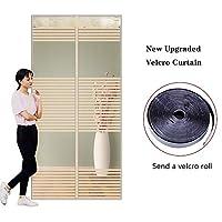 磁気ドア、網戸の網、網の反蚊ハンズフリー自動的に網のカーテンは虫及び蚊を保ちます,Beige,110*220