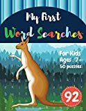 My First Word Searches: 50 Large Print Word Search Puzzles : word search for kids ages 6-8 activity workbooks | Ages 7 8 9+ kangaroo design (Vol.92) (Kids word search books)