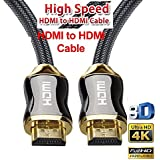SAG - HDMI Cable (4K HD HDMI 2.0 Ready) - Braided Cord - Ultra High Speed 18Gbps - Gold Plated Connectors - Ethernet & Audio