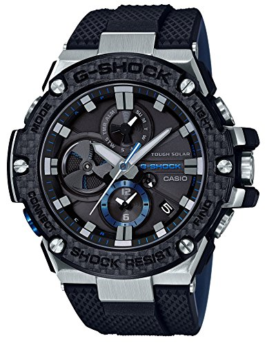 [カシオ]CASIO 腕時計 G-SHOCK ジーショック G-STEEL スマートフォン リンク カーボン ベゼル GST-B100XA-1AJF メンズ
