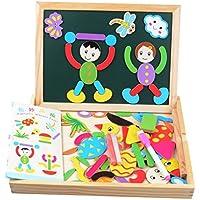 Greensun TM木製パズル子供教育パズルボード子供磁気パズル図面ボードMontessori Jigsawベビーインテリジェンスおもちゃ