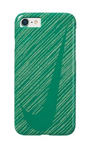 NIKEナイキ グラフィック スウッシュ iPhone 8/7 ケース ルシードグリーン/ゴーストグリーン