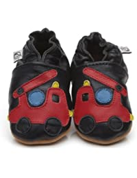 Soft Leather Baby Shoes Fire Engine [ソフトレザーベビーシューズの消防車] 18-24 months (15 cm)
