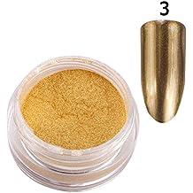 (3) - Ofanyia Mirror Effect Nail Glitter Powder Nail Art Pigment Brilliant Metallic Colour Powder Nail Decoration Nail Polish Powder