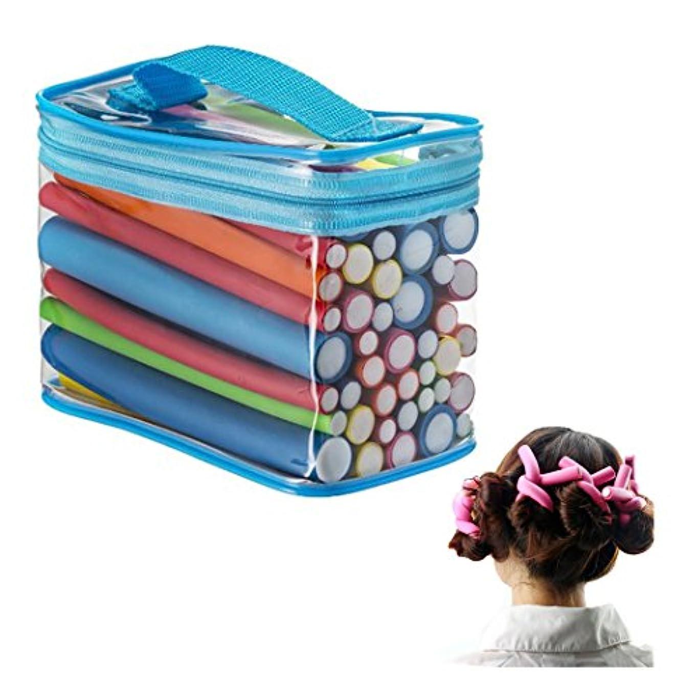 パンフレット薬局言い直すKapmore スポンジカーラー ヘアローラー 手巻き 寝ながら 巻き髪 42本 収納バッグ付き 睡眠用 再利用可能