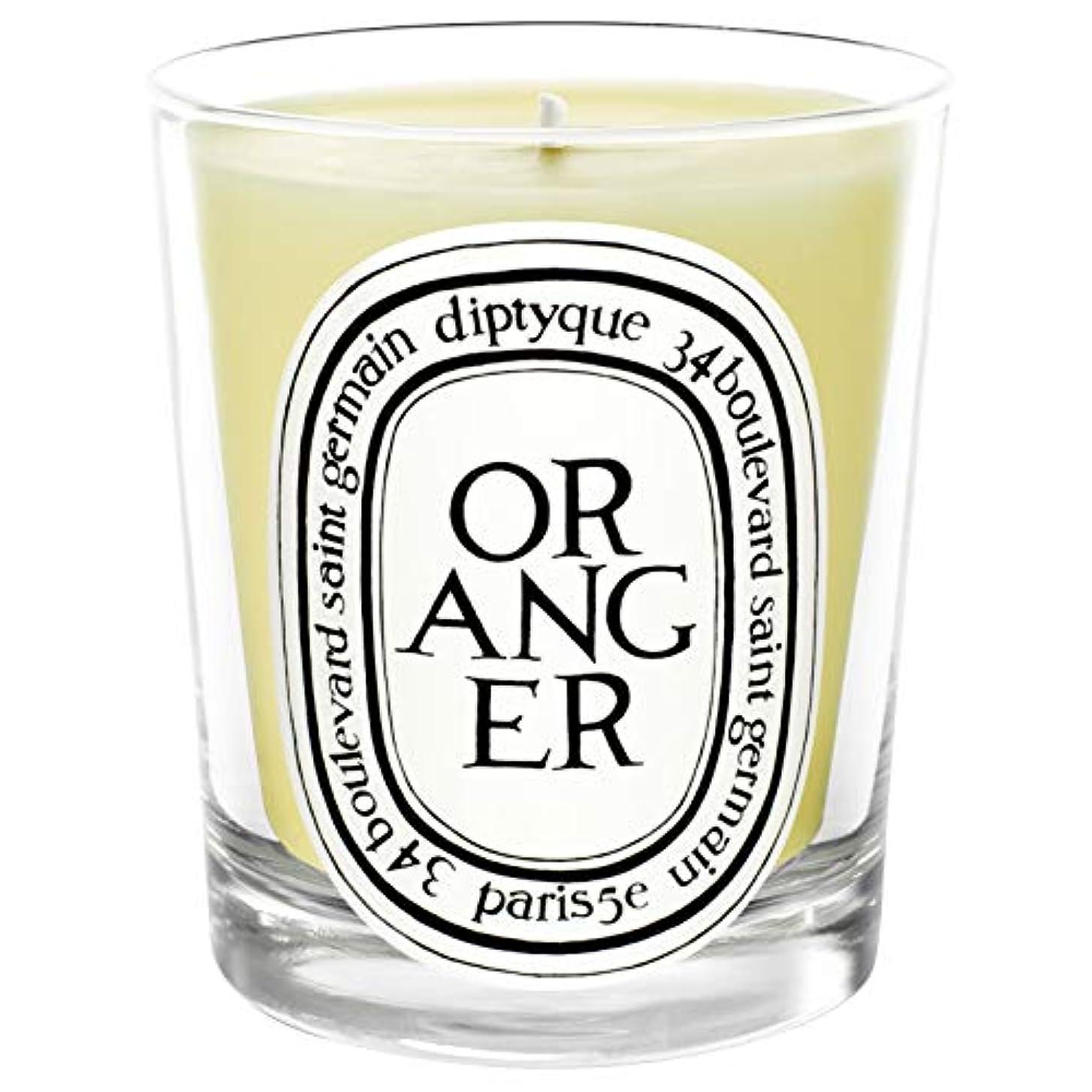 リーガン入場換気[Diptyque] Diptyqueのオランジェ香りのキャンドル190グラム - Diptyque Oranger Scented Candle 190g [並行輸入品]