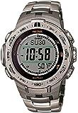 [カシオ]CASIO 腕時計 PROTREK Slim Line Series トリプルセンサーVer.3搭載 世界6局電波対応ソーラーモデル チタンバンド仕様 PRW-3100T-7JF メンズ