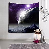 IAIZI 宇宙地球地球銀河宇宙銀河星雲星雲のタペストリー、ポリエステル生地壁掛けベッドルーム居間装飾ボヘミアンタペストリー (Color : C, Size : 203x153cm(60*80in))