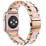 Apple Watch バンド/Apple Watch 2バンド,Wearlizer アップルウォッチ ベルト ステンレス 軽量 調整工具付 38mm ローズゴルード