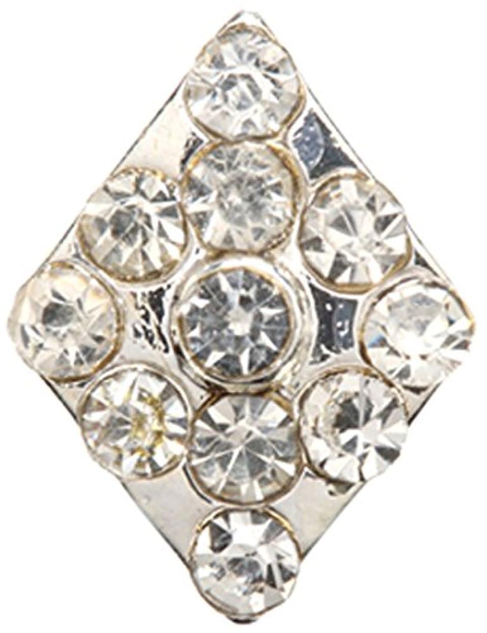 無駄対人物理的なダイヤ クリスタル(各2個) シルバー