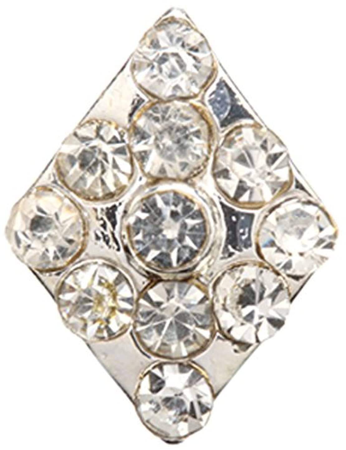 ワードローブ保有者緊張するダイヤ クリスタル(各2個) シルバー