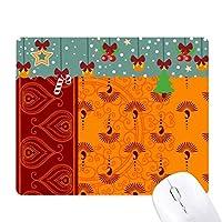 印刷リピートクロスオレンジ色のカラフルなアート ゲーム用スライドゴムのマウスパッドクリスマス