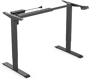 FLEXISPOT スタンディングデスク 電動式 昇降デスク 高さ調節デスク 人間工学 メモリー機能付き オフィスワークテーブル パソコンデスク ゲーミングデスク 学習机 勉強机 ブラック EN1B(天板別売り)