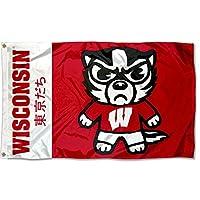 裁縫概念Wisconsin Badgers Kawaii Japanマスコットフラグ