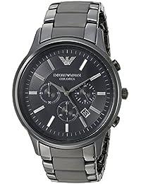 EMPORIO ARMANI(エンポリオアルマーニ) AR1451 CERAMICA クロノグラフ オールブラック 腕時計 [並行輸入品]
