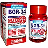 8 packs of BGR-34 TABLETS 100% NATURAL HERBAL Blood Glucose Metaboliser Research product of C.S.I.R.