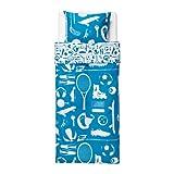 IKEA TALANGFULL 掛け布団カバー&枕カバー ブルー 150×200cm 00272557