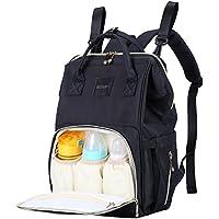 AISPARKY おむつバッグ バックパック 多機能 防水 旅行用 お昼寝バッグ 赤ちゃんのお手入れに 大容量 丈夫 お母さんやお父さんに ブラック JPDB02
