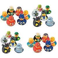 24 Rubber Ducks Superhero & Villian Rubber Ducks Perfect Birthday Party Favors Cake Toppers Prizes [並行輸入品]