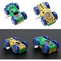 Greensun TM Cars両面パターンClockwork面白いおもちゃギフトforキッズ子供おもちゃ車