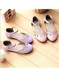 子供靴 キッズパンプス フォーマルシューズ 女の子用シューズ 女の子サンダル 女の子用フォーマル 靴 プリンセス パンプス 全2色 purple,195