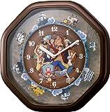 (シチズン/リズム時計) CITIZEN キャラクターからくり ワンピースからくり時計 ブラウンメタリック 4MH880-M06
