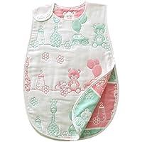バンビノ スリーパー 赤ちゃん用 8重ガーゼ オーガニックコットン製 ベビー布団の下に 出産祝いギフトに人気 (動物園)