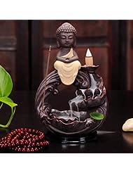 PHILOGOD 香炉 仏壇陶器クリエイティブスタイリング逆流香炉 香皿 お香 ホルダー (Buddha)