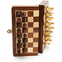 Wood Magnetic Folding Chess Set - 7 in. by Wood Expressions [並行輸入品]