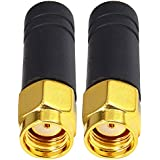 2.4GHz Wireless Module Small Antenna Copper 3cm Long Omnidirectional RP SMA Male Pack of 2