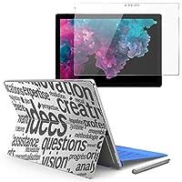 igsticker Surface pro7 (2019) pro6 pro2017 pro4 専用スキンシール ガラスフィルム セット 液晶保護 フィルム ステッカー アクセサリー 保護 006553 その他 文字 英語