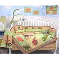 SoHo Dinosaur Story Baby Crib Nursery Bedding Set 13 pcs included Diaper Bag with Changing Pad & Bottle Case ** Special ! ** by SoHo Designs