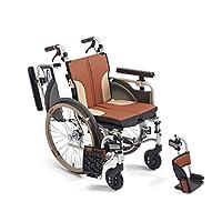 ミキ 自走型コンパクトモジュール車いす SKT-1000 ブラウン 40