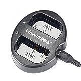 Newmowa D-Li90 対応 USB充電器 デュアルチャネル バッテリーチャージャー 互換急速充電器 Pentax D-Li90 Pentax 645D 645Z K-01 K-3 K-5 K-5 II K-5 IIs K-7