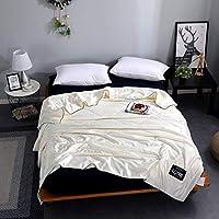 エアコン毛布 洗濯綿の夏の薄いパッド入りのエアコンは毛布でした(4つのサイズ) ソファタオル (Color : White, Size : D)