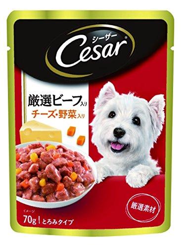 ジャパン リミテッド シーザー パウチ 成犬用 厳選ビーフ入り チーズ・野菜入り 70g×160個 (ケース販売)