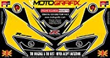 MOTOGRAFIX(モトグラフィックス) ボディパッド GSX-R600/750 K4/K5(04/05 FRONT イエロー/シルバー MT-NS007YS