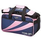 ABS ボウリング バッグ B16-420 ピンク/ネイビー ボール 2個用 ツアーバッグ ボウリング用品 ボーリング グッズ