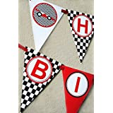 Race Car Birthday Banner Pennant by POP parties