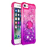 MOBONCAS Glitter Case for iPhone 7/iPhone 8, Bling Sparkly Design Soft TPU Case Slim Fit Rubber Silicone Cover Shockproof Protective Gel Back Shell Case CoverPink Purple.