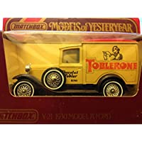 Matchbox Models of Yesteryear Y 21 1930 MOdel A Ford Toblerone Cholat Wobler