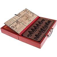 Baoblaze 持ち運び 中国 樹脂 チェス 木製 折り畳み チェス盤 セット
