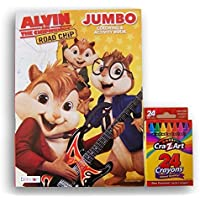 Alvin and the Chipmunksジャンボカラーリングandアクティビティブックwithボックスof 24クレヨン
